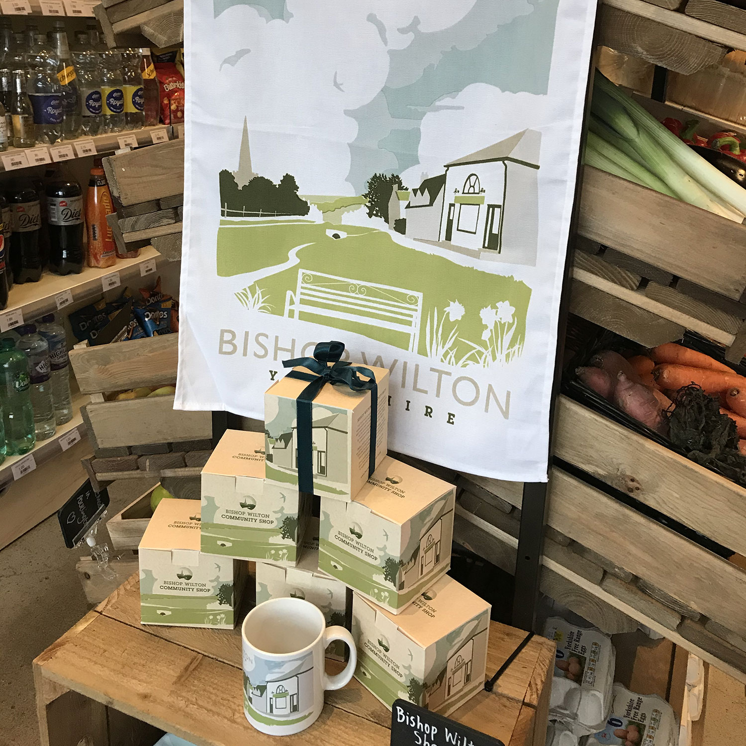 Our range of Bishop Wilton products include high quality tea towels, coasters, mugs and water bootles.